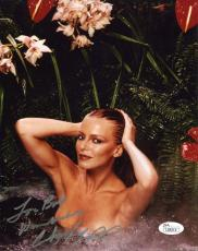 CHERYL LADD HAND SIGNED 8x10 COLOR PHOTO       WET+SEXY POSE      TO BOB     JSA