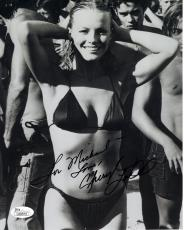 CHERYL LADD HAND SIGNED 8x10 PHOTO     GORGEOUS+SEXY POSE     TO MICHAEL     JSA