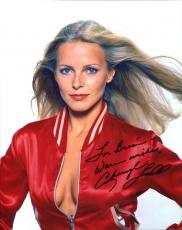 CHERYL LADD HAND SIGNED 8x10 PHOTO+COA       SEXY CHARLIE'S ANGEL    TO BRIAN