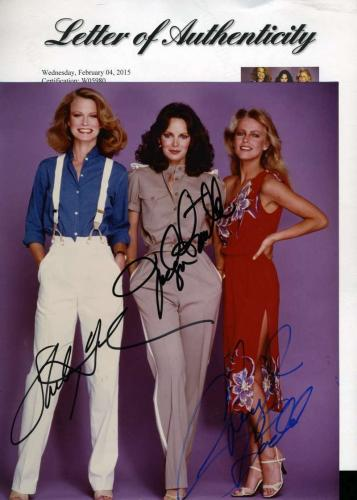 Cheryl Ladd Shelley Hack Jaclyn Smith Charlies Angels Signed Psa/dna 8x10 Photo