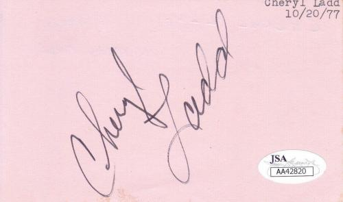CHERYL LADD Signed Album Page Actress/Charlie's Angles JSA AA42820