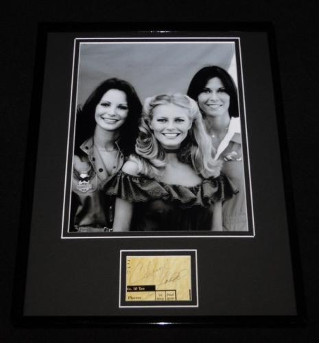 Cheryl Ladd Signed Framed 11x14 Photo Display Charlie's Angels w/ cast