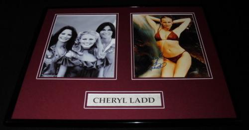 Cheryl Ladd Signed Framed 16x20 Photo Display Charlie's Angels w/ cast