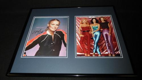 Cheryl Ladd Signed Framed 16x20 Photo Set Charlie's Angels w/ cast