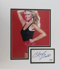 Cheryl Ladd Signed Matted Authentic Index Card w/ 8x10 Photo (PSA/DNA) #P94095