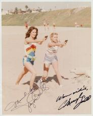 CHERYL LADD+JACLYN SMITH HAND SIGNED 8x10 PHOTO+COA       SEXY CHARLIE'S ANGELS