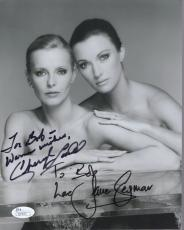 CHERYL LADD+JANE SEYMOUR HAND SIGNED 8x10 PHOTO   SEXY ACTRESSES    TO BOB   JSA