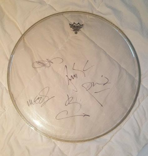 Chester Bennington Linkin Park Band Signed Autographed Concert USED Drumhead PSA
