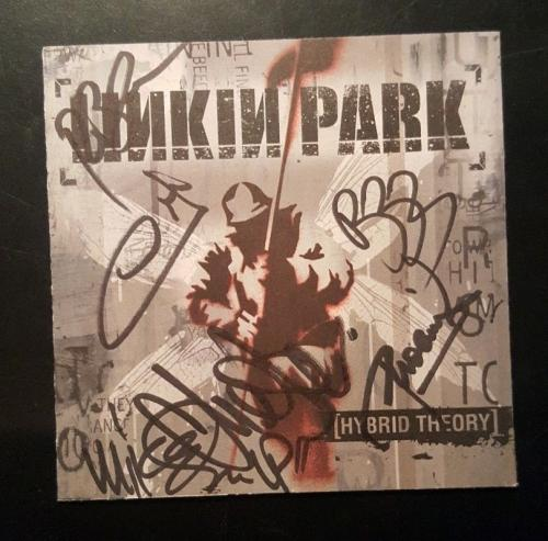 Chester Bennington Linkin Park Signed Autographed Hybrid Theory CD Cover PSA/DNA