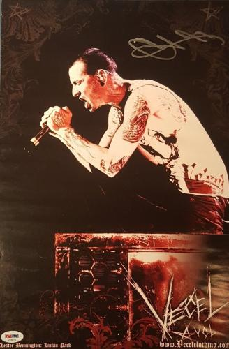 Chester Bennington Linkin Park Signed Autographed Poster PSA/DNA AUTHENTIC