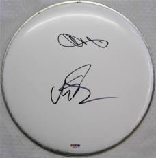 Chester Bennington & Mike Shinoda Signed Drum Head PSA/DNA Linkin Park (B)