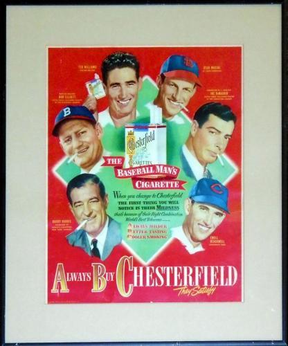 Chesterfield Cigarettes Framed Magazine Advertisement