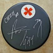 "Chevelle All 3 Band Signed Autographed 12"" Drumhead PSA Beckett Guaranteed"