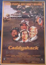 """Chevy Chase + 2 Autographed 23"""" x 35"""" Caddyshack Movie Poster signed BAS Beckett"""