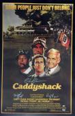 """Chevy Chase + 2 Autographed 23"""" x 35"""" Caddyshack Movie Poster signed PSA COA"""