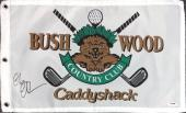 Chevy Chase Authentic Autographed Signed 12x20 Caddyshack Golf Flag Psa/dna