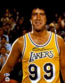 """Chevy Chase Autographed 11""""x 14"""" Fletch Lakers Jersey Photograph - BAS COA"""