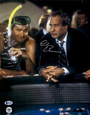 """Chevy Chase Autographed 11""""x 14"""" National Lampoon's Vegas Vaction Craps Table Photograph - BAS COA"""