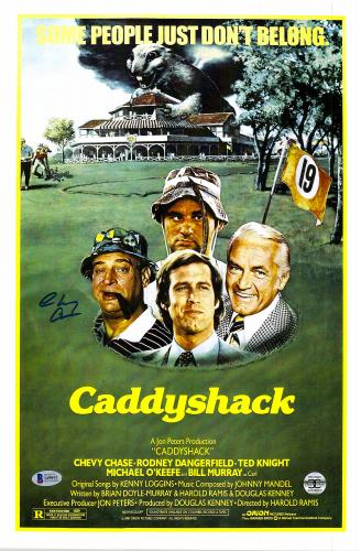 "Chevy Chase Autographed 12""x 17"" Caddyshack Movie Poster - BAS COA"
