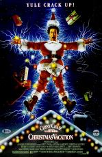 """Chevy Chase Autographed 12""""x 17"""" National Lampoon's Christmas Vacation Movie Poster - BAS COA"""