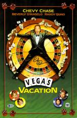"""Chevy Chase Autographed 12""""x 17"""" National Lampoon's Vegas Vaction Movie Poster - BAS COA"""