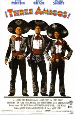 """Chevy Chase Autographed 12""""x 17"""" Three Amigos Movie Poster - BAS COA"""