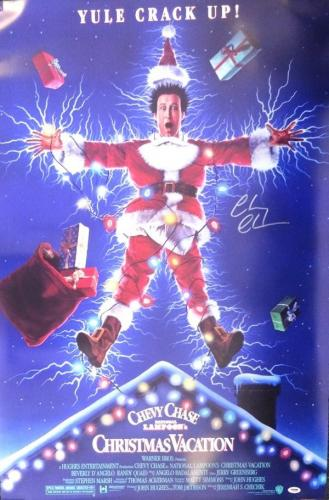 Chevy Chase Autographed 27x40 Christmas Vacation Movie Poster Psa/dna 77807