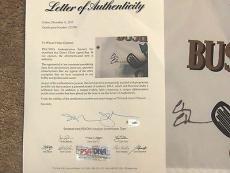 Chevy Chase Autographed Bushwood Caddyshack Golf Flag Psa/dna Letter
