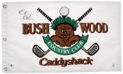 Chevy Chase Autographed Caddyshack Bushwood Golf Flag - BAS COA