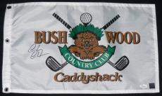 Chevy Chase Autographed Caddyshack Golf Flag W/ Proof! - Jsa Coa!