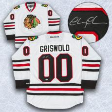 Chevy Chase Autographed Chicago Blackhawks Clark Griswold Jersey