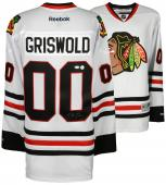 Chevy Chase Autographed Chicago Blackhawks Clark Griswold National Lampoons Jersey - BAS COA