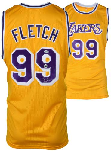 Chevy Chase Autographed Fletch Lakers Jersey - BAS COA