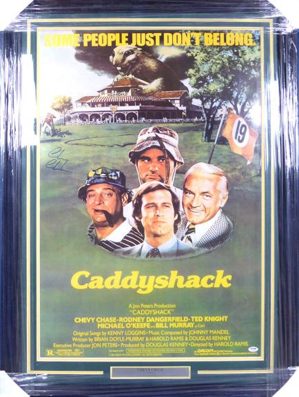 Chevy Chase Autographed Framed 24x36 Caddyshack Movie Poster PSA/DNA Stock #129116