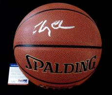 Chevy Chase Autographed Nba Basketball (fletch) - Psa Dna!