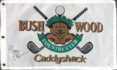 Chevy Chase Autographed Signed 12x20 Caddyshack Golf Flag Psa/dna Stock #94136