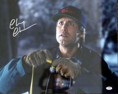 Chevy Chase Autographed Signed 16x20 Photo Christmas Vacation Psa/dna 77805