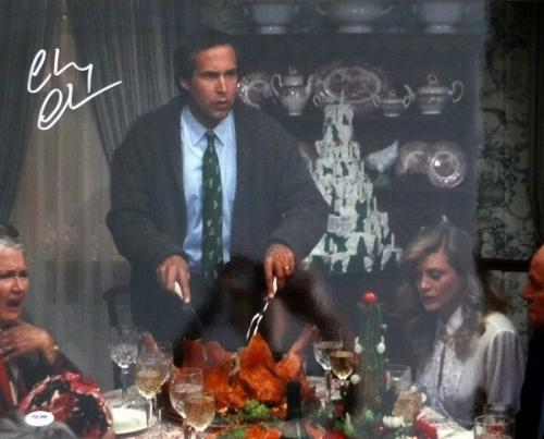Chevy Chase Autographed Signed 16x20 Photo Christmas Vacation Psa/dna 77806