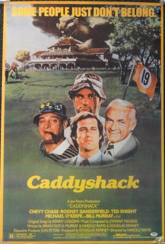Chevy Chase Autographed Signed 24x36 Caddyshack Movie Poster Psa/dna 77808