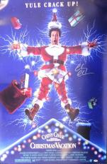 Chevy Chase Autographed Signed 27x40 Christmas Vacation Movie Poster Psa/dna