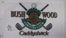 Chevy Chase autographed signed CADDYSHACK BUSHWOOD golf flag PSA/ DNA LOA