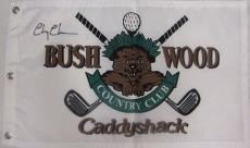 Chevy Chase Autographed Signed Caddyshack Flag PSA/DNA LOA