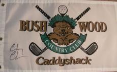 Chevy Chase Autographed Signed Caddyshack Golf Flag Psa Loa
