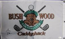 Chevy Chase Autographed Signed Caddyshack Golf Flag Psa Loa/jsa Hologram