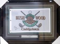 Chevy Chase Autographed Signed Framed 12x20 Caddyshack Golf Flag Psa/dna