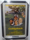 Chevy Chase Autographed Signed Framed 24x36 Caddyshack Movie Poster Psa/dna
