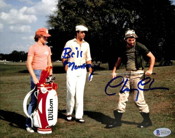 """Chevy Chase Caddyshack """"Bill Murray"""" Signed 8x10 Photo BAS Witnessed #M53752"""