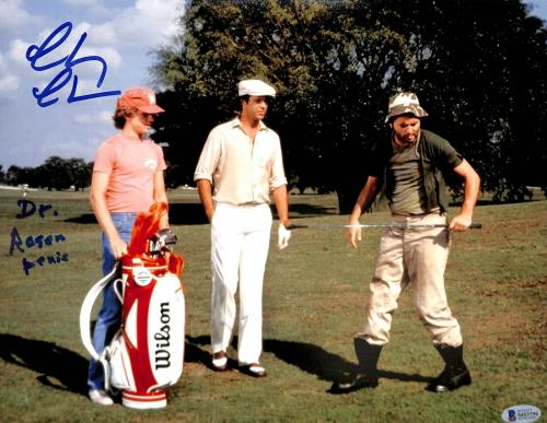 "Chevy Chase Caddyshack ""Dr. Rosen P***s"" Signed 11x14 Photo BAS Witness #M53756"