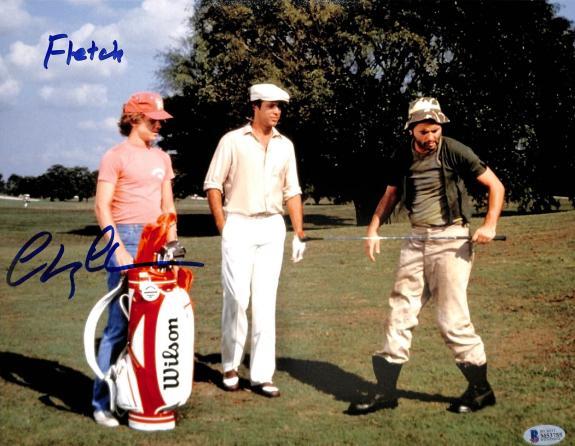 "Chevy Chase Caddyshack ""Fletch"" Signed 11x14 Photo BAS Witness #M53755"