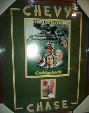 Chevy Chase Caddyshack Movie Signed Autograph Double Matted Framed Jsa Coa Rare